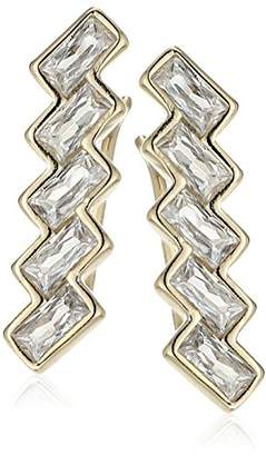 Shashi Baguette Climber Earrings