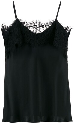 Gold Hawk lace-trimmed cami top