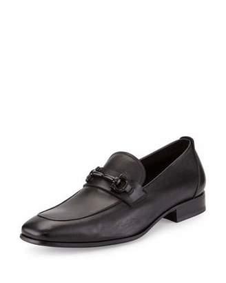 Salvatore Ferragamo Men's Soft Calfskin Gancini Loafer, Black