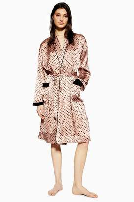 Topshop Womens Animal Velvet Robe