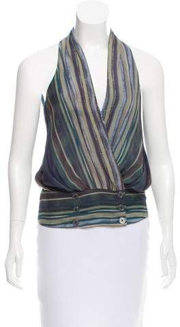 Lippes Sleeveless Silk Top