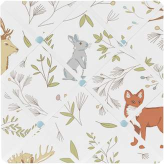 JoJo Designs Sweet Woodland Animal Toile Fabric Memory/Memo Photo Bulletin Board