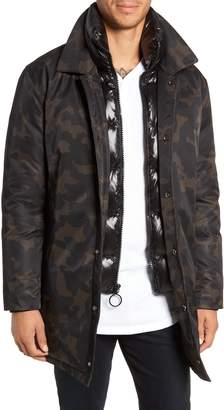 The Very Warm Garvey Puffer Bib Camo Jacket