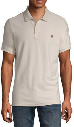 U.S. Polo Assn. USPA Embroidered Short Sleeve Pique Polo Shirt