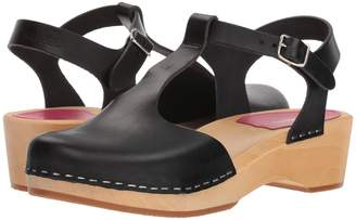 Swedish Hasbeens T-Strap Debutant Women's Wedge Shoes