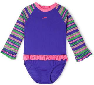 Speedo NEW Toddler Girls Flounce Sun Suit Purple