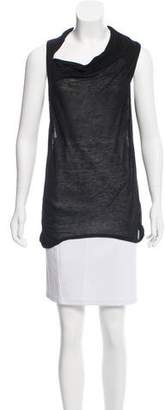Helmut Lang Asymmetrical Sleeveless Top