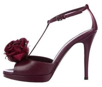 Saint Laurent Rose 90 T-Strap Sandals w/ Tags