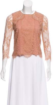 Alice + Olivia Lace Long Sleeve Top