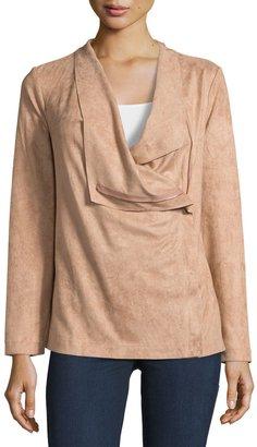 Bobeau Asymmetric Zip-Front Faux-Suede Jacket $65 thestylecure.com