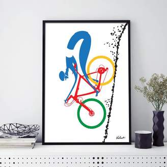 Wall Art Contemporary Cycling Print Mtb Downhiller