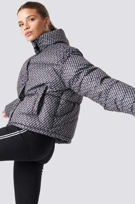 NA-KD Na Kd Trend Logo Puffer Jacket Black