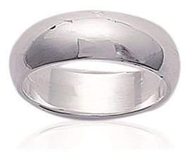 Mary Jane MaryJane Women's 925 000 Rhodium Plated Ring 6 Mm Wide Alliance Ring Free Engraving 1