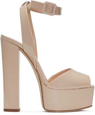 Giuseppe Zanotti Beige Patent Lavinia Platform Sandals $795 thestylecure.com