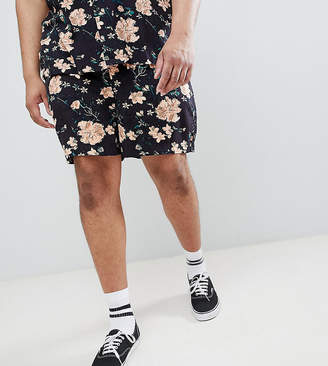 Asos Design DESIGN Plus Co-ord slim shorts with elasticated waistband in dark floral print