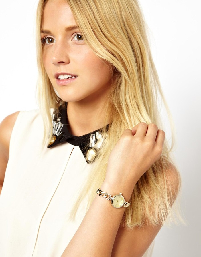 Asos Vintage Style Curb Chain Watch
