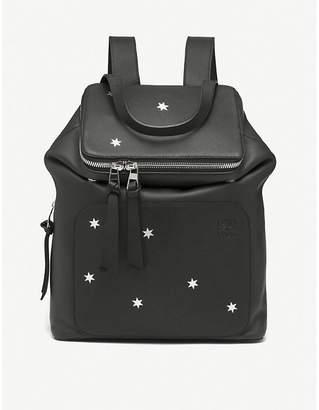 Loewe Black and Silver Goya Stars Small Leather Backpack