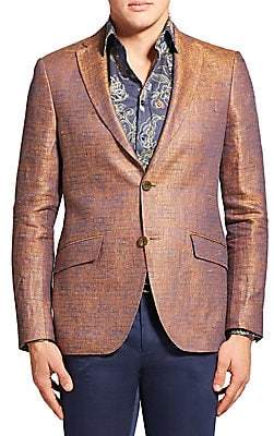 Etro Men's Sheen Textured Linen Blazer