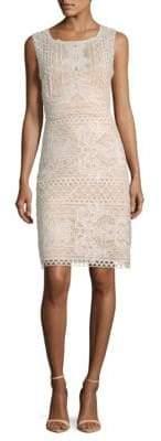 BCBGMAXAZRIA Crochet Lace Sheath Dress