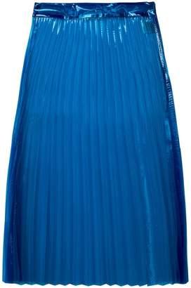 clear Ssheena pleated midi skirt