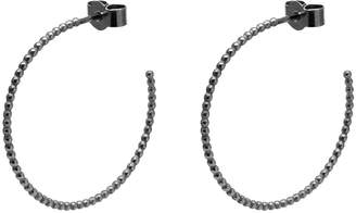 Myia Bonner Black Large Ball Hoop Earrings