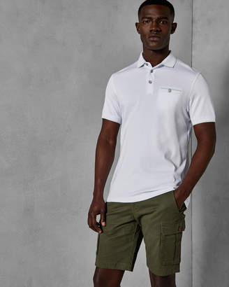 Ted Baker JELLY Flat knit collar cotton polo shirt