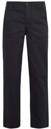 MAISON KITSUNÉ Straight-leg cotton-twill trousers