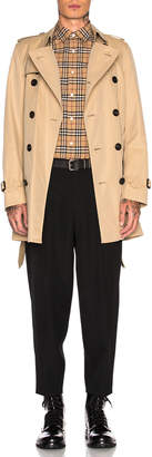 Burberry Heritage Modern Fit Mid Length Trench in Honey | FWRD