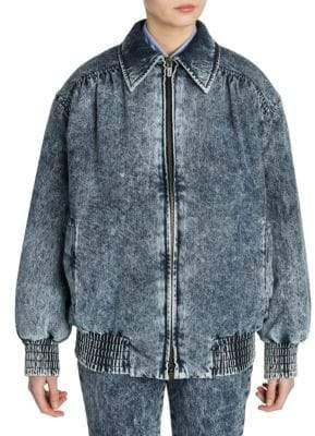 Miu Miu Padded Oversized Washed Denim Jacket