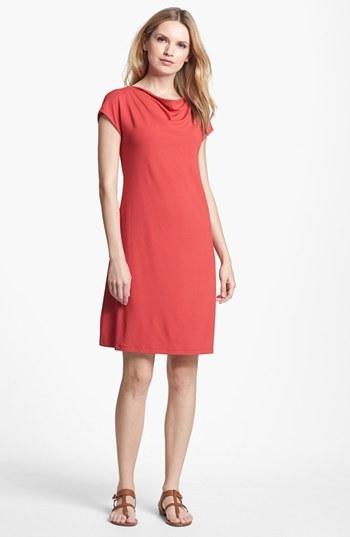 Eileen Fisher Drape Neck Jersey Dress