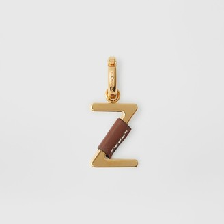 Burberry Leather-wrapped 'Z' Alphabet Charm, Brown