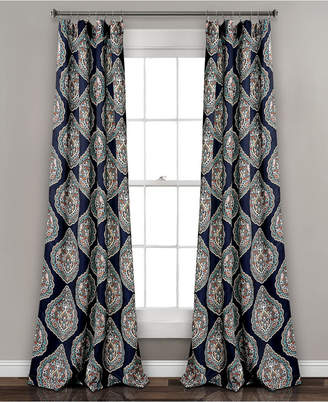 "Lush Decor Harley 84"" x52"" Room Darkening Window Curtain Panels Set"