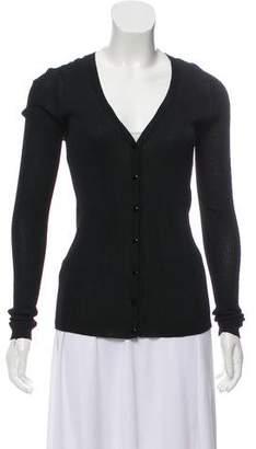 Calvin Klein Collection V-Neck Button-Up Cardigan