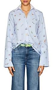 "Mira Mikati Women's ""Venice Beach""-Print Cotton Blouse - Blue"