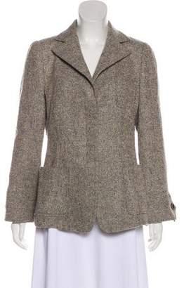 Armani Collezioni Virgin Wool Tweed Blazer