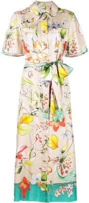 Carolina Herrera floral silk shirt dress