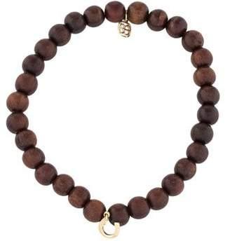 Sydney Evan 14K Horseshoe Wood Bead Bracelet