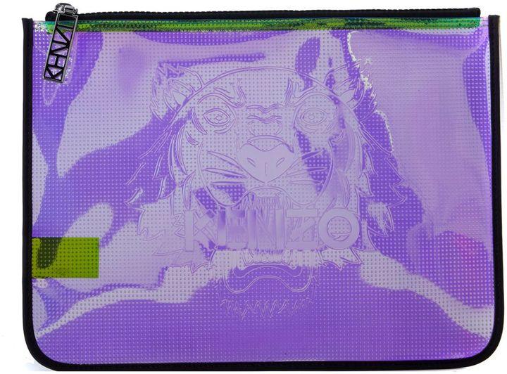 KenzoKenzo Purple Iridescent Rubber Clutch