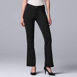 Vera Wang Petite Simply Vera Everyday Luxury Ponte Bootcut Pants