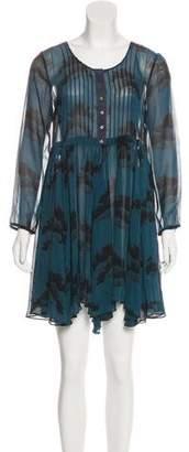 Elizabeth and James Semi-Sheer Printed Dress