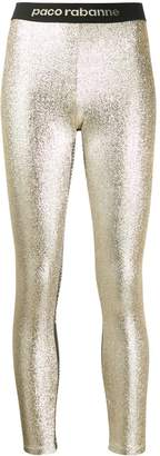 Paco Rabanne metallic leggings