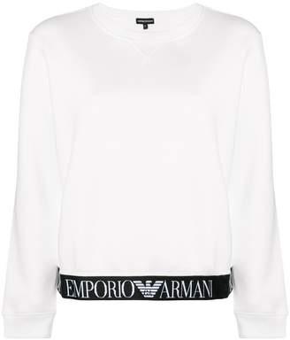 Emporio Armani logo long-sleeve sweatshirt