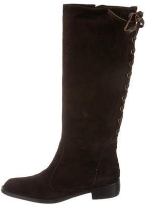 Theory Suede Knee-Length Boots