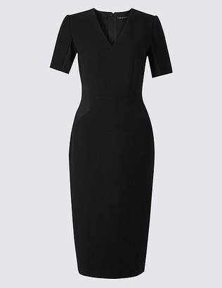 Marks and Spencer Insert Panel Crepe Shift Midi Dress