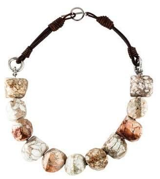 Brunello Cucinelli Riverstone Bead Strand Necklace