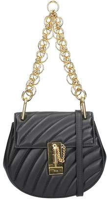 Chloé Mini Drew Bijou Bag In Black Quilted Leather