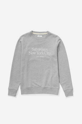 Saturdays NYC Bowery Miller Standard Embroidered Sweatshirt