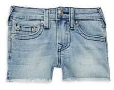 True Religion Little Girl's Cut-Off Denim Shorts