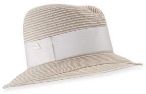 Neiman Marcus Gigi Burris Nell Straw Fedora Hat