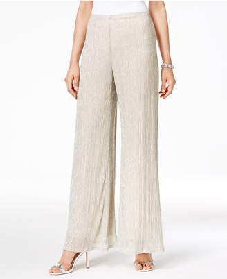 MSK Metallic Knit Palazzo Pants $69 thestylecure.com